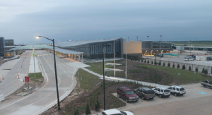 Friday morning view of the new airport terminal