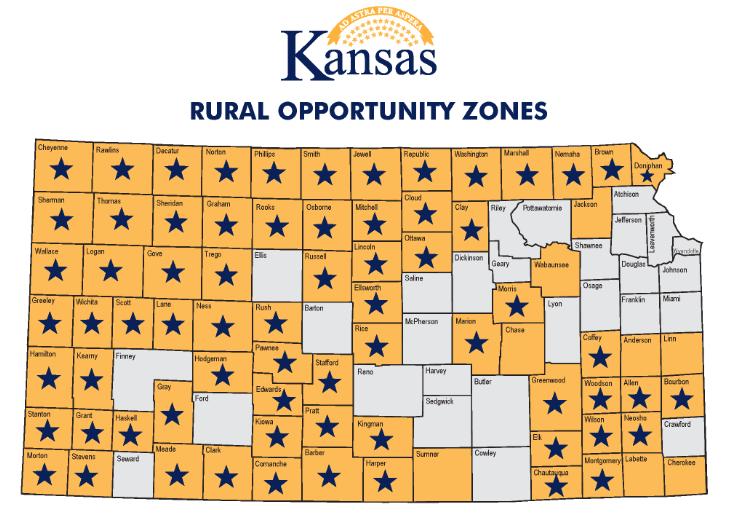 Map- Kansas Dept. of Commerce (click to Enlarge)