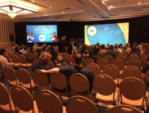 Monday morning spellingbee orientation is about to begin-Scripps National Spelling Bee photo