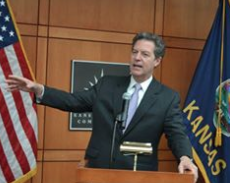 Kansas governor has new tax plan but won't provide details UPDATE
