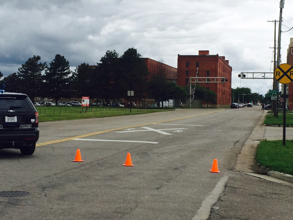 Streets blocked off in downtown Salina on Wednesday afternoon