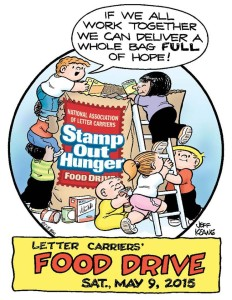 letter carriers Food Drive 2015