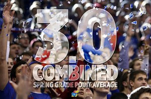 Jayhawks Athletes Post Combined 3.0 GPA for Spring Semester