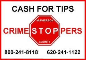 McPherson County Crime Stoppers – June 5, 2015