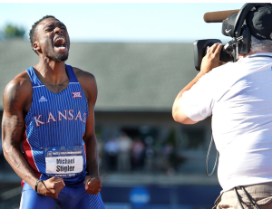 KU's Stigler Runs to NCAA 400-Meter Hurdle Title