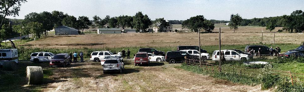 Law enforcement authorities at the scene of the Wednesday standoff -KHP photo