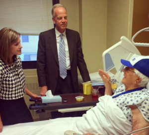 Rep. Jenkins and Sen. Moran on a visit to the Topeka VA hospital