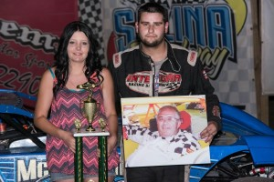Ryan Gustin Captures Lonnie Smith Memorial at Salina Speedway