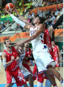 Landen Lucas came up with big points in the  fourth quarter for the USA.- photo Univ. of Kansas