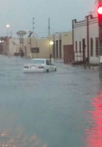 Street flooding in Southwest Kansas