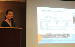 Photo by Andy Marso Mariana Ramirez, a social worker and project manager at Juntos, a Latino health advocacy organization, was among the speakers Thursday at the 2015 Kansas Conference on Poverty in Topeka.