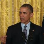 President Obama at Monday's White House event