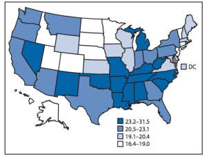 CDC report: One in five adult Kansans has a disability