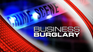 A masked business burglary