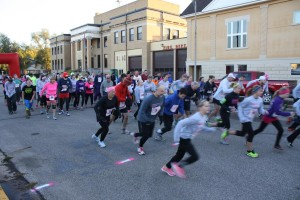 Participants begin the 5K run prior to the 2-Mile Fun Walk at last year's Impact the Cure (Courtesy Photo)