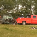 Wednesday morning accident west of Hutchinson
