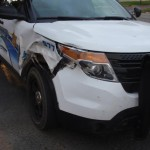 Sheriff's Office SUV Damaged After Hitting Cow