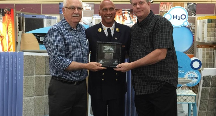 Stephen Siller Tunnel to Towers Foundation Presents Piece of WTC Steel to Salina Carpet One Store