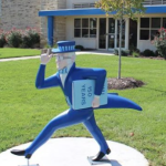1st of 23 Ichabod statues unveiled outside Kansas bank