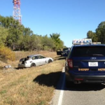 Kansas woman hospitalized after ejected in rollover accident