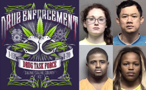 Four Arrested After Drug Task Force Searches Homes