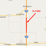 UPDATE: Section of I-135 in McPherson County Reopened