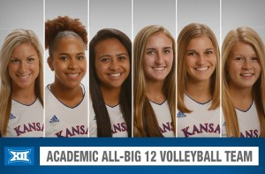 Six Jayhawks on Academic All-Big 12 Volleyball Team