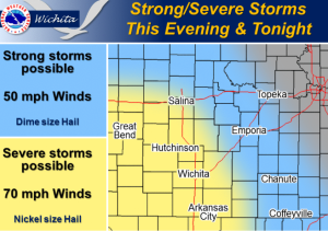 Cloudy, Breezy and Thunderstorms Possible