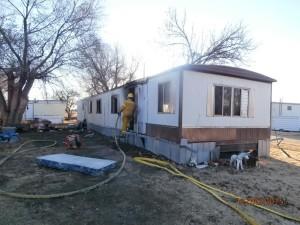 Fire Destroys Saline County Mobile Home