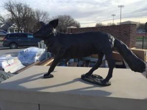 New Statue Finds Home at KWU Football Stadium