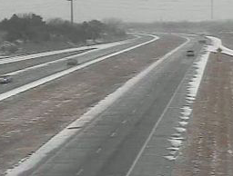 Icy highways in Kansas on Tuesday