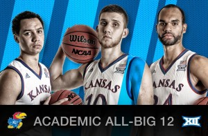 Kansas Trio Named to Academic All-Big 12 First Team