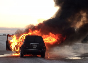 KHP: Vehicle Fire on I-70 in Dickinson County