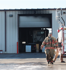Fire at the Kenworth dealership in Liberal photo- courtesy Southwest Daily Leader