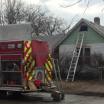 Police find injured man just before Kansas house fire