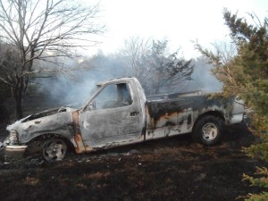 Grass Fire Causes Damage to Rural Property
