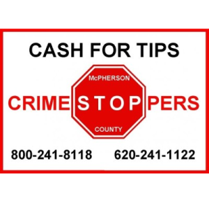 McPherson County Crime Stoppers – March 7, 2016