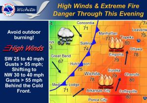 Windy Wednesday, Chance for Thunderstorms