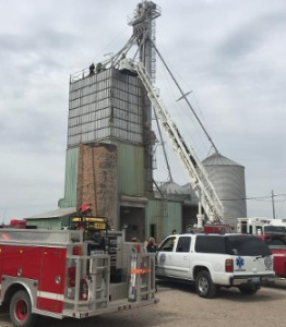 Man trapped in McPherson County grain bin rescued