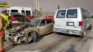 Three Vehicle Accident Sends One To Hospital