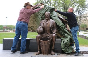 Naismith Statue Unveiled at DeBruce Center