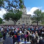Franklin Graham holds rally at the Kansas Statehouse