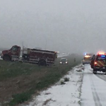 Spring snow creates challenges for drivers in NW Kansas