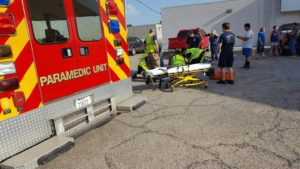 Bicyclist Hospitalized After Being Hit By Truck