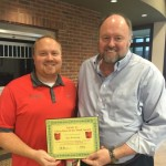 Bret Birdsong is Presented With His BANK VI Hero of the Week Award