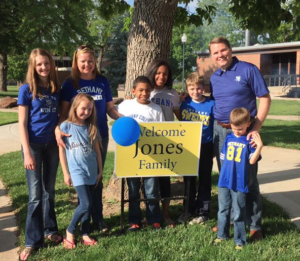 The Jones family at school picnic- courtesy photo Bethany College