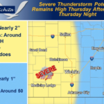 Chance for more severe weather this week