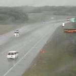 1 hospitalized after vehicle hydroplanes on I-70, sideswipes semi