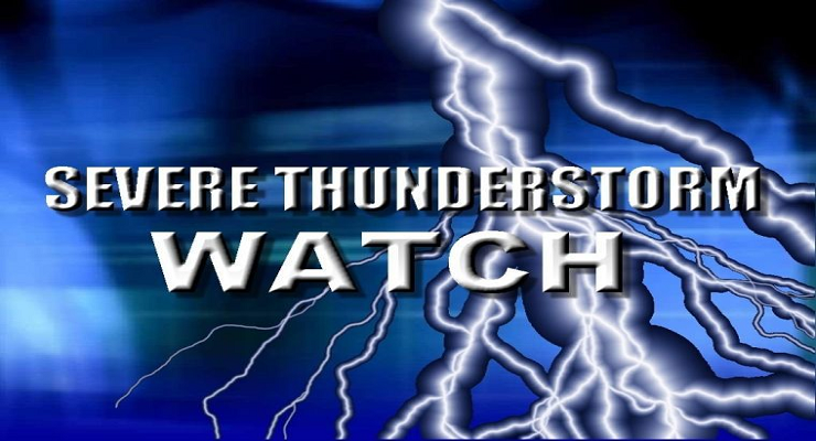 Severe Thunderstorm WATCH Issued Until 11:00 PM