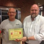 Randy Goble is Presented With His BANK VI Hero of the Week Award